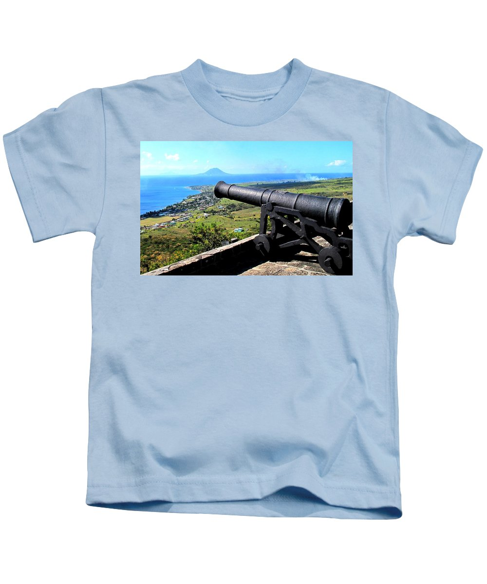 Brimstone Kids T-Shirt featuring the photograph Guarding The Channel by Ian MacDonald