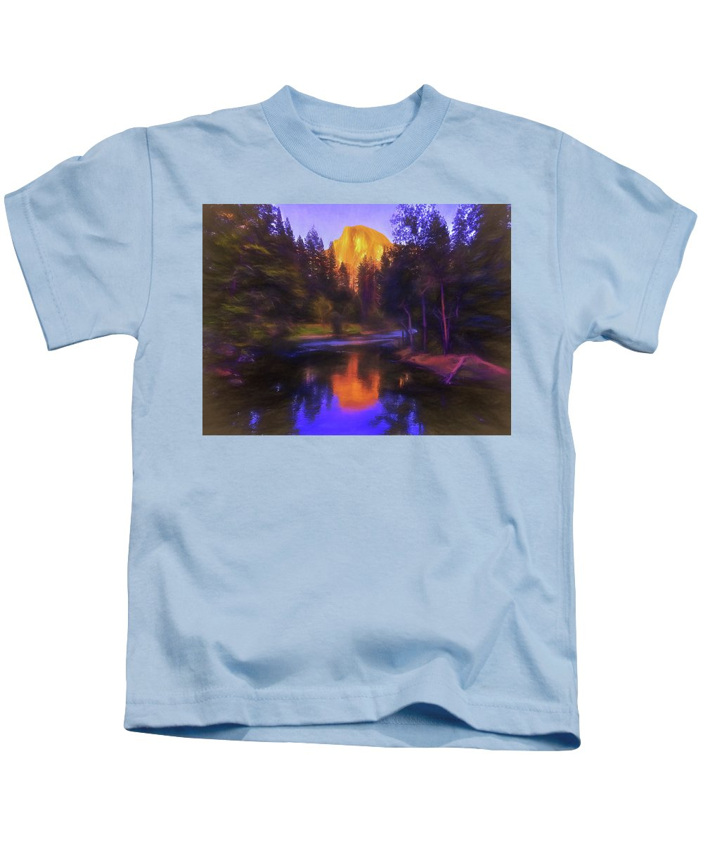 Half Dome Kids T-Shirt featuring the photograph Half Dome Sunset by Daniel Penn