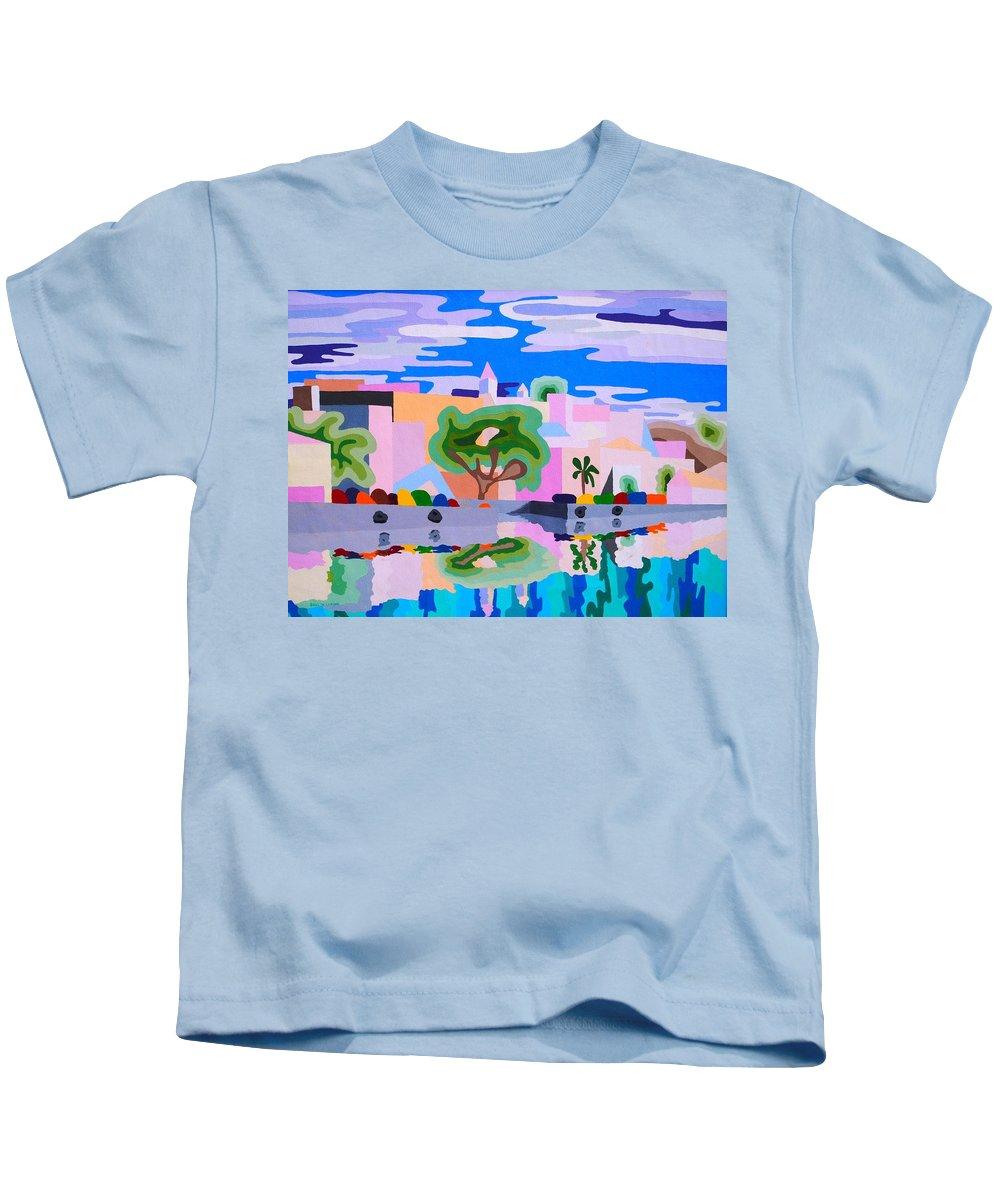 Bermuda Kids T-Shirt featuring the painting Hamilton Bermuda by Paul Larson
