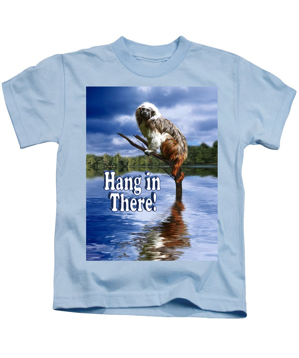 Monkey Kids T-Shirt featuring the photograph Hang In There by Gravityx9 Designs