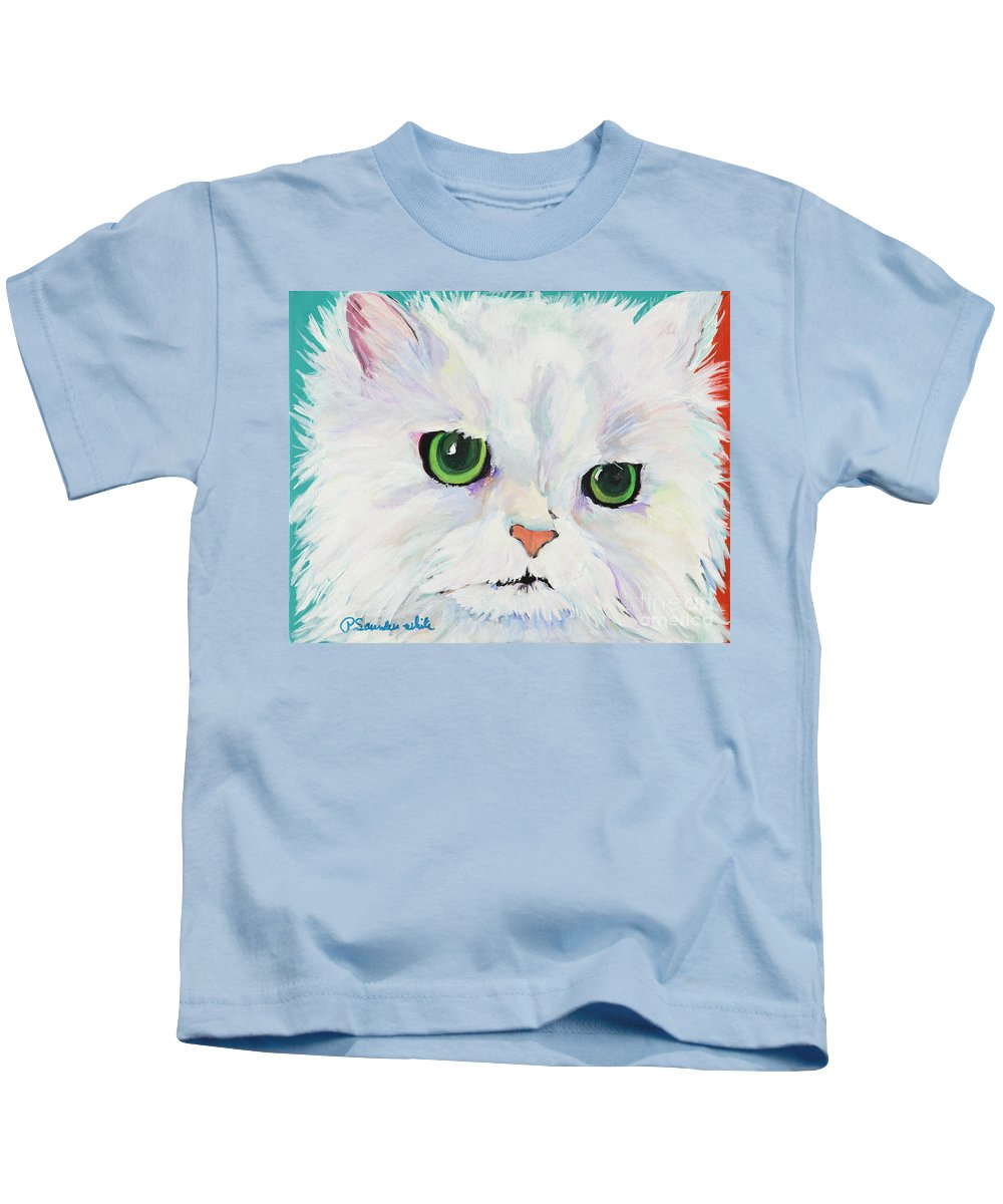 Acrylic Kids T-Shirt featuring the painting Hannah by Pat Saunders-White