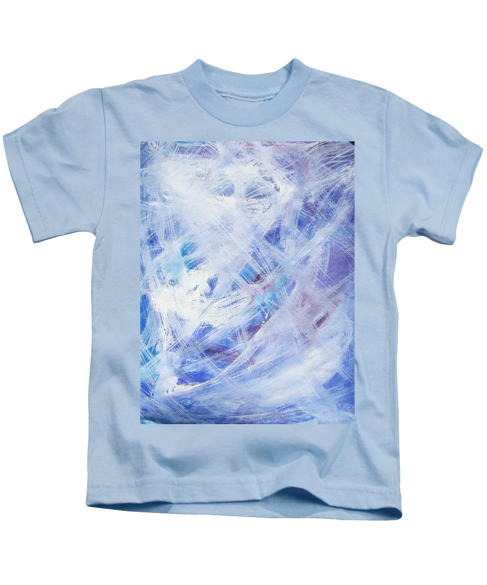 Abstract Kids T-Shirt featuring the painting Happy Abstract by Lee Serenethos