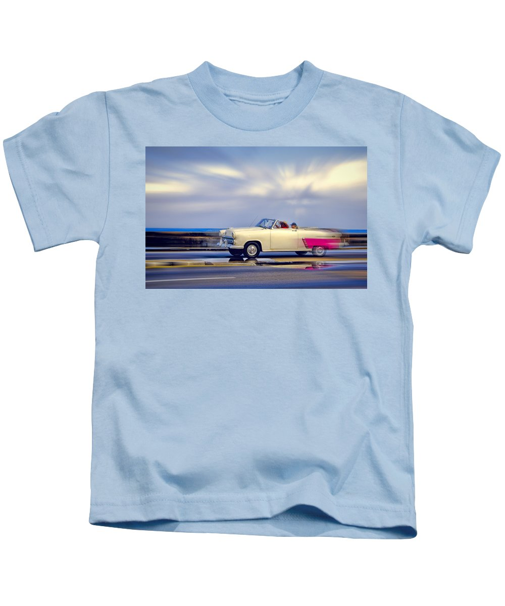 Cuba Kids T-Shirt featuring the photograph Havana Malecon 2 by Claude LeTien