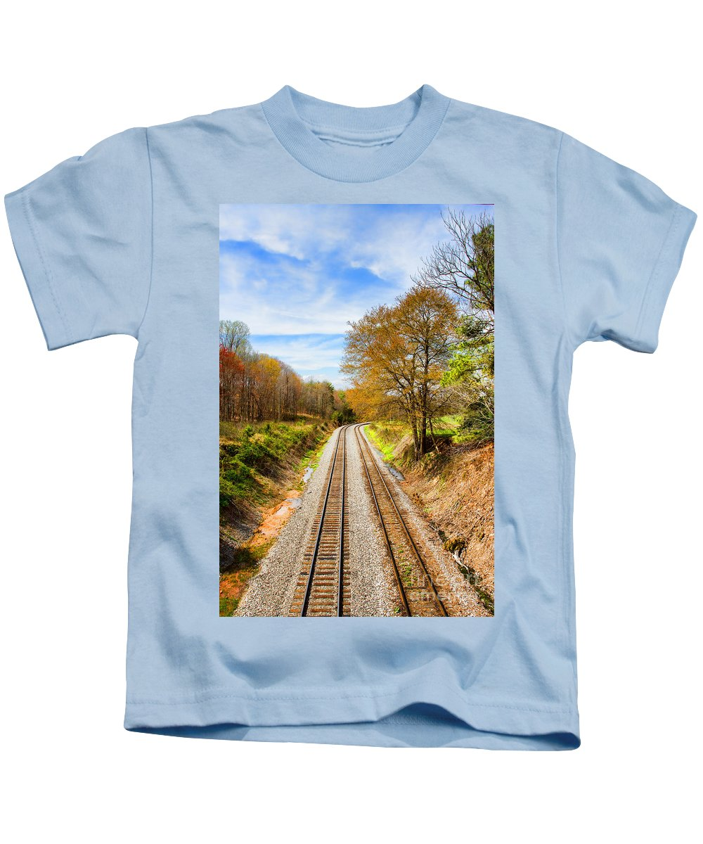 Spring Kids T-Shirt featuring the photograph Headed West by Rebecca Raybon