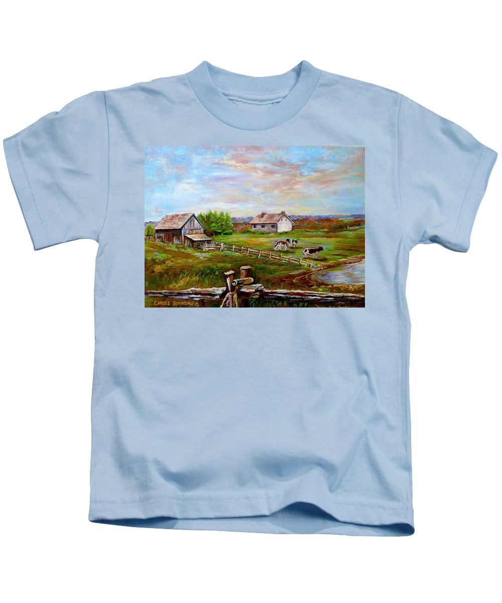 Ile D'orleans Kids T-Shirt featuring the painting Heaven On Earth by Carole Spandau