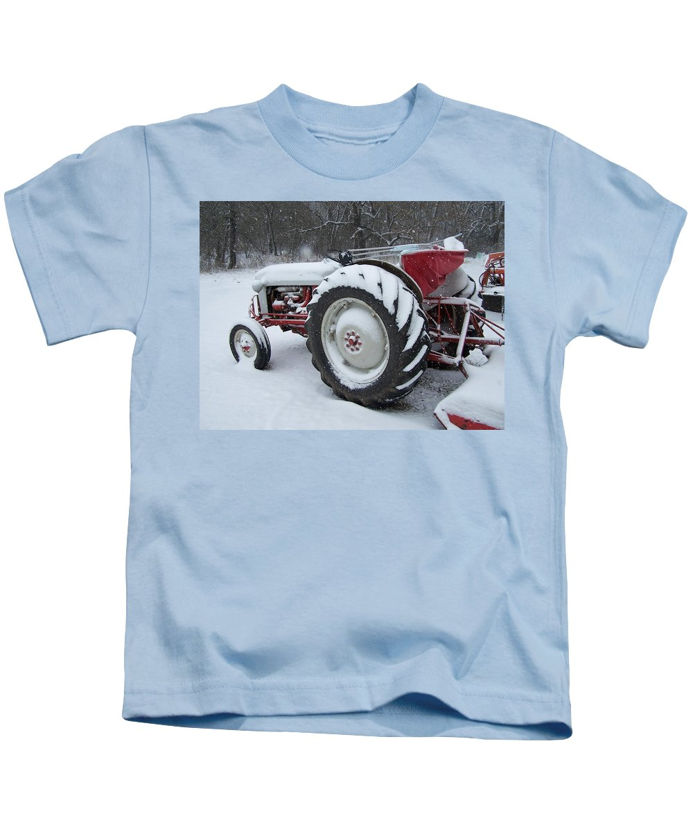 Tractor Kids T-Shirt featuring the photograph Herman by Gale Cochran-Smith