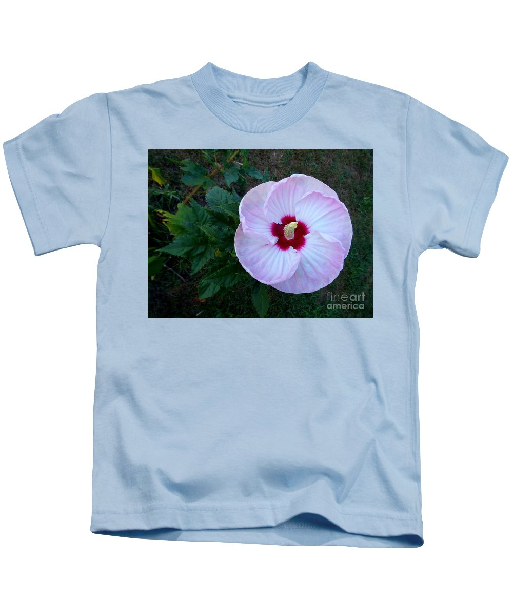 Hibiscus Kids T-Shirt featuring the photograph Hibiscus by Scenic Sights By Tara