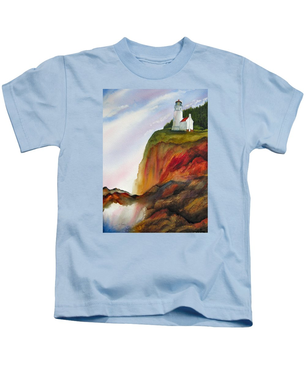 Coastal Kids T-Shirt featuring the painting High Ground by Karen Stark