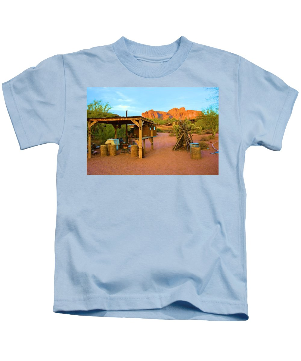 Arizona Kids T-Shirt featuring the photograph Historic Camp Four Post by Richard Jenkins