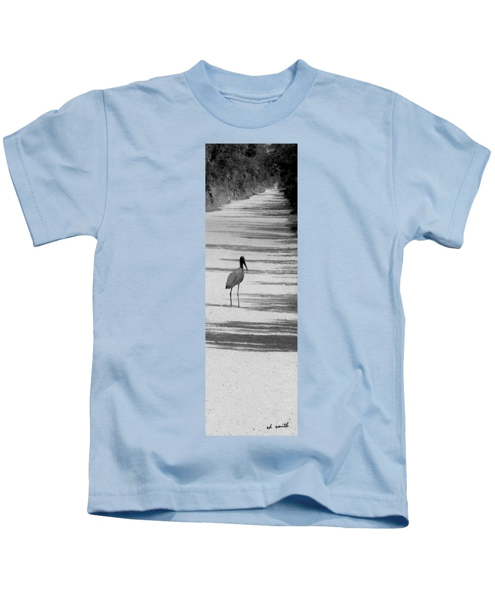 Still Life Kids T-Shirt featuring the photograph Hitch Hiker by Ed Smith