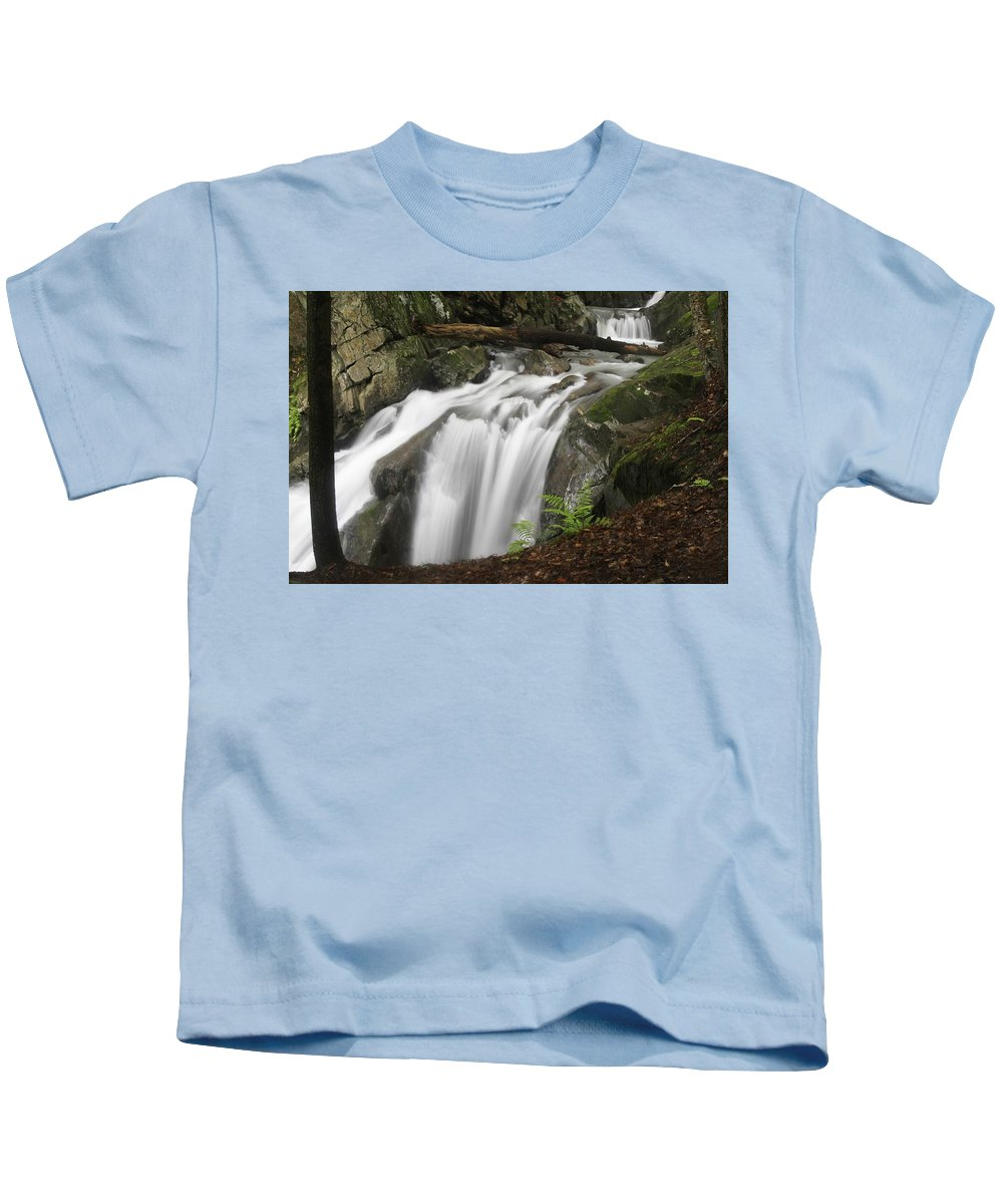 Waterfall Kids T-Shirt featuring the photograph Honey Hollow Falls by Brent Gould