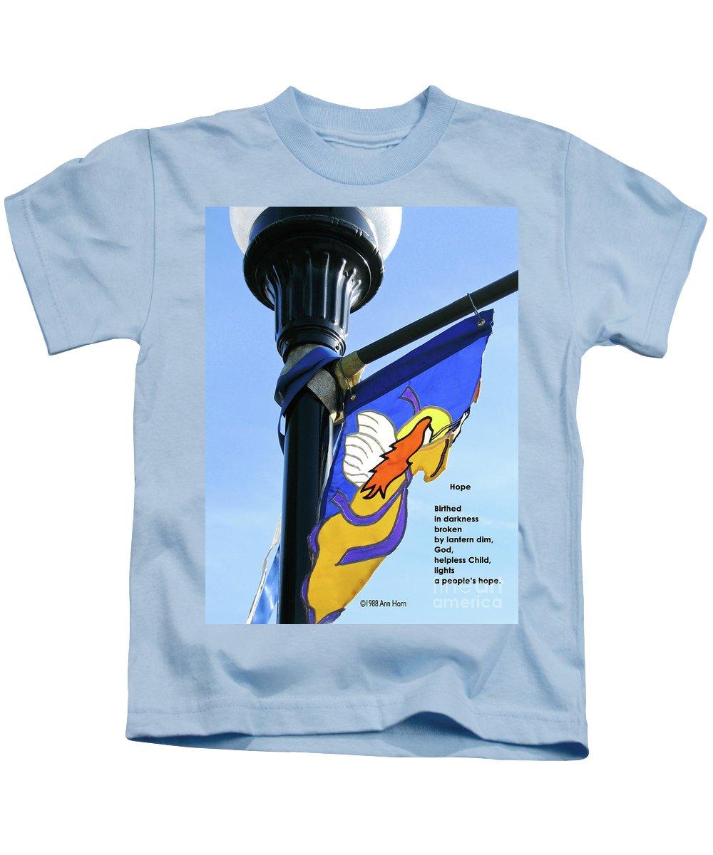 Light Kids T-Shirt featuring the photograph Hope by Ann Horn