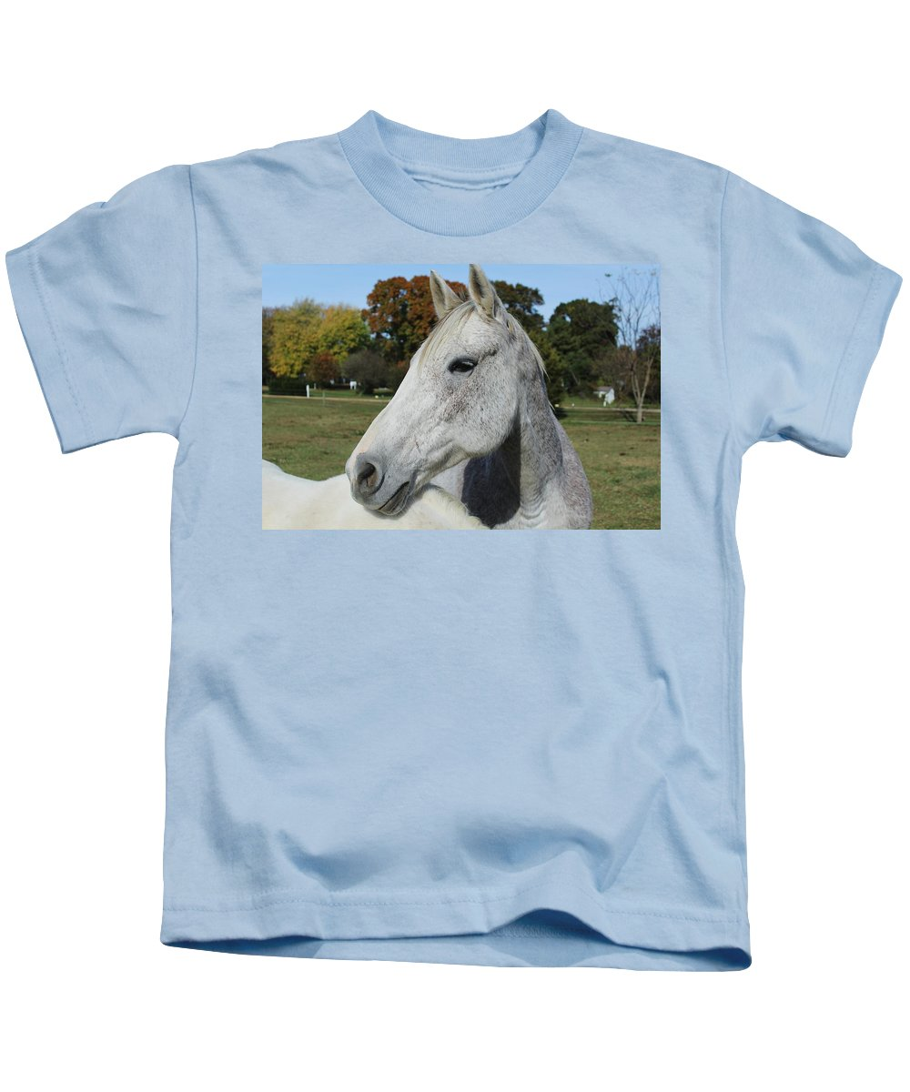 Horse Kids T-Shirt featuring the photograph Horse by Hunter Kotlinski