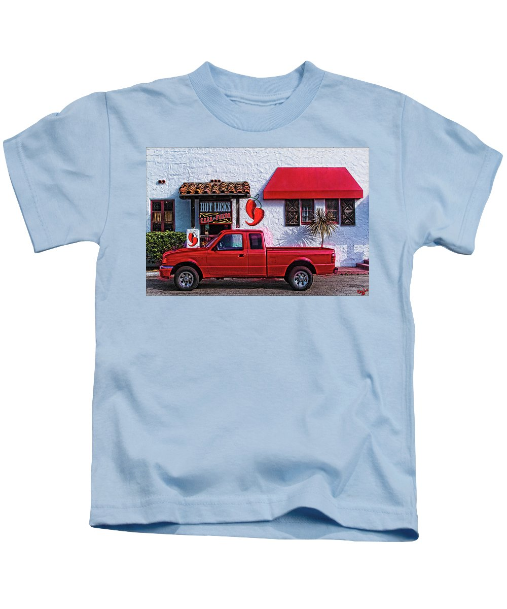 Red Kids T-Shirt featuring the photograph Hot Licks by Chris Lord