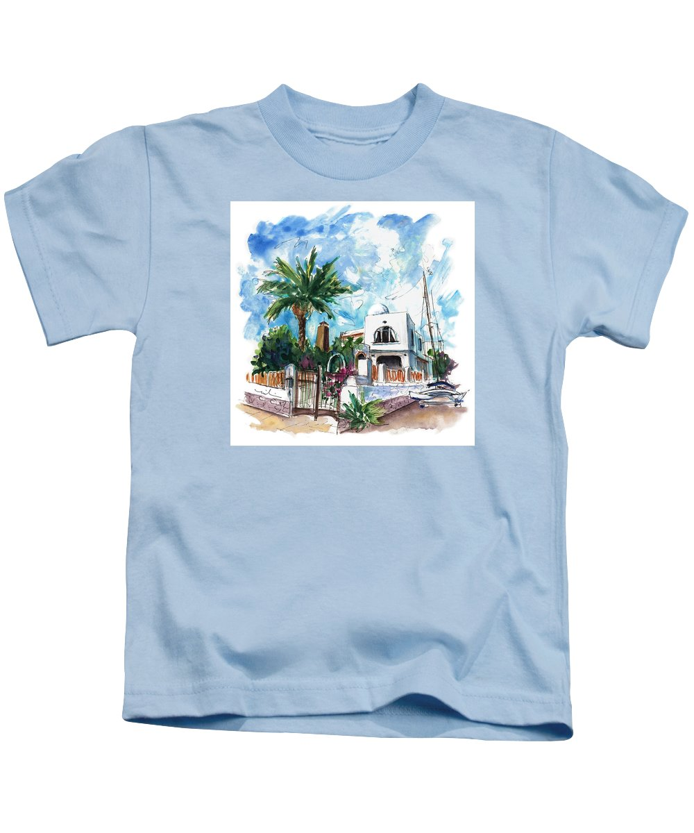 Travel Kids T-Shirt featuring the painting House In San Jose 02 by Miki De Goodaboom