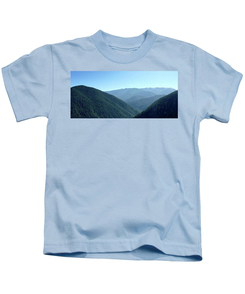 Hurricane Kids T-Shirt featuring the photograph Hurricane Ridge by Alex Pyro