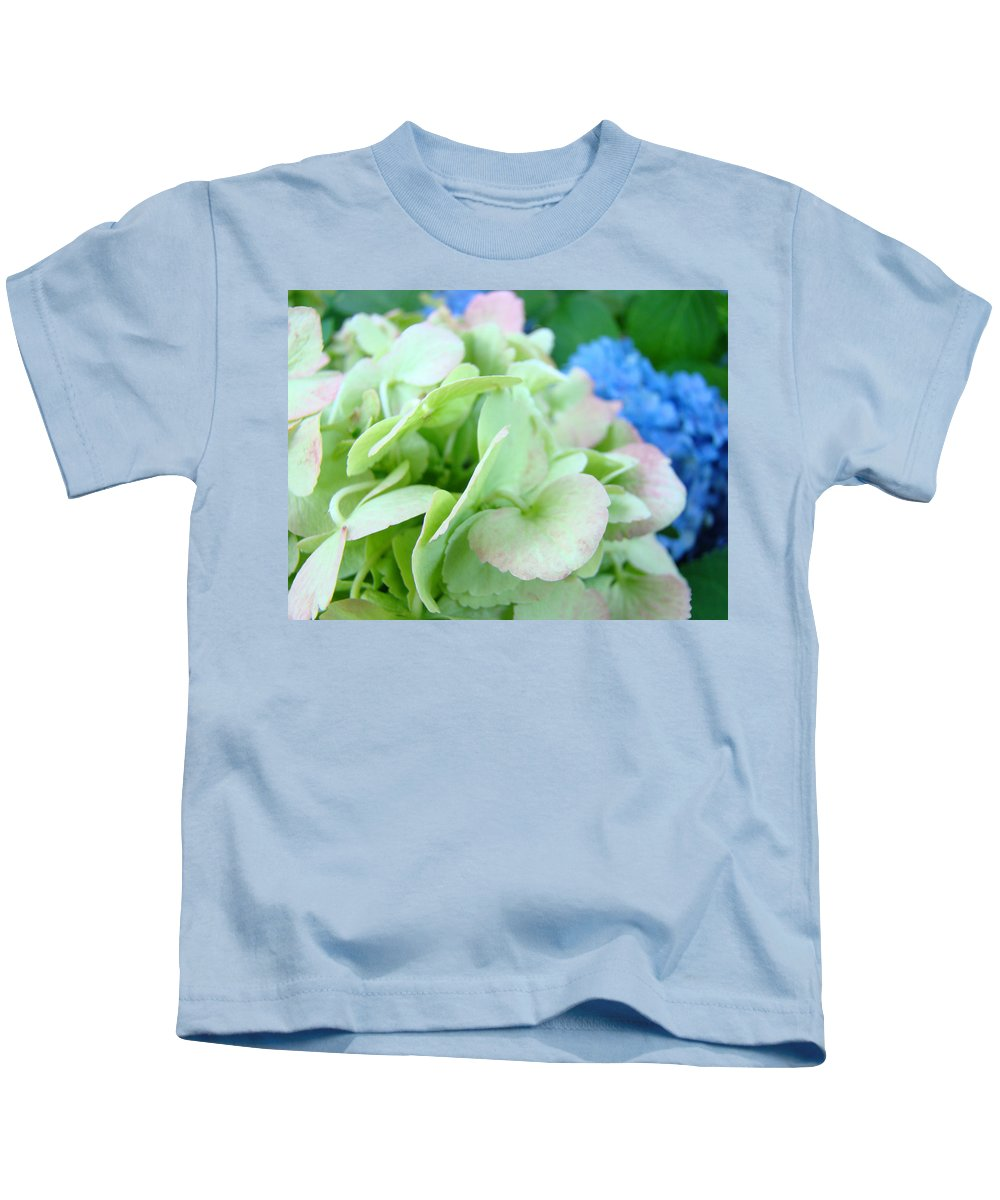 Hydrangea Kids T-Shirt featuring the photograph Hydrangea Flowers Art Prints Floral Gardens Gliclee Baslee Troutman by Baslee Troutman