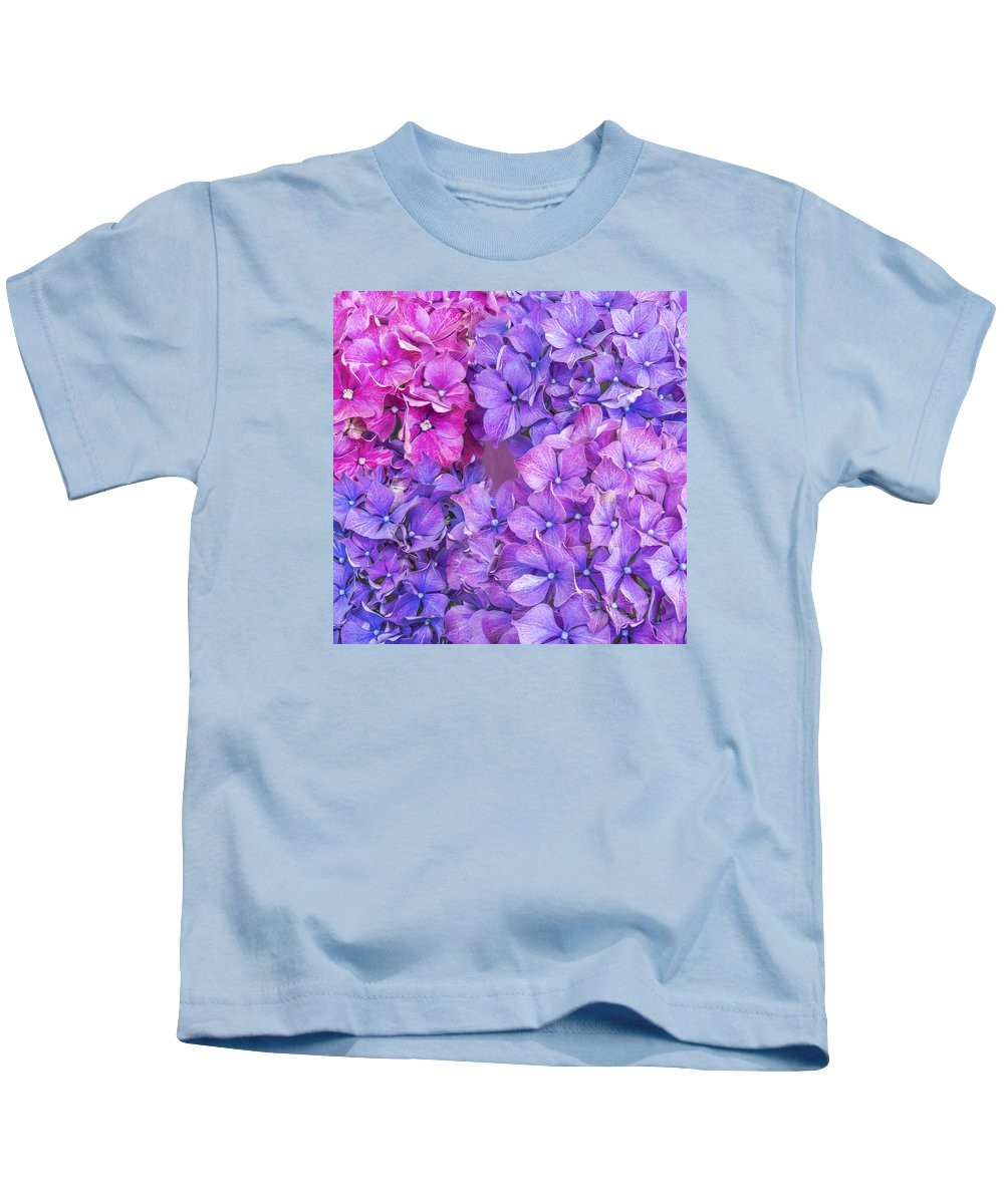 Abstract Kids T-Shirt featuring the photograph Hydrangea by Nina Lin