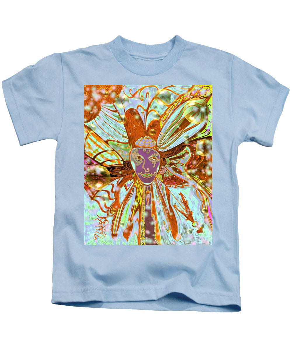 Mars Kids T-Shirt featuring the painting I Am From Mars I Come In Peace by Natalie Holland
