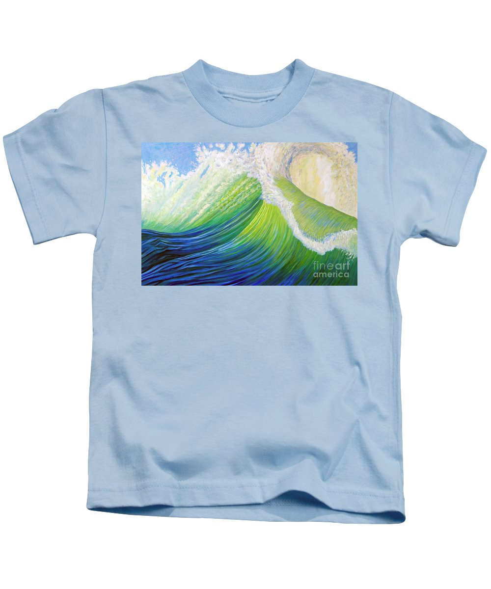Ocean Kids T-Shirt featuring the painting Inner Ocean - Exaltation by Brian Commerford