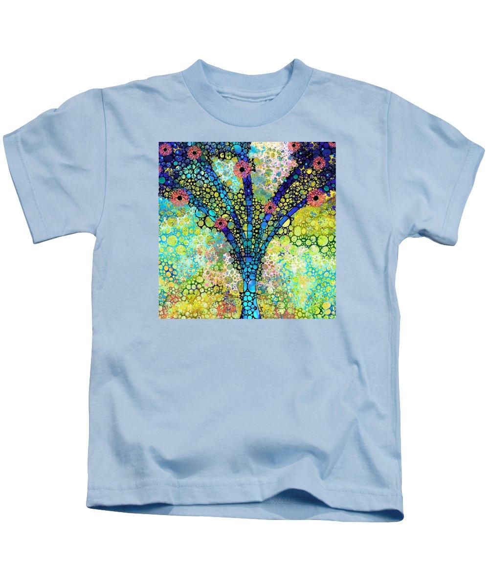 Tree Kids T-Shirt featuring the painting Inspirational Art - Absolute Joy - Sharon Cummings by Sharon Cummings