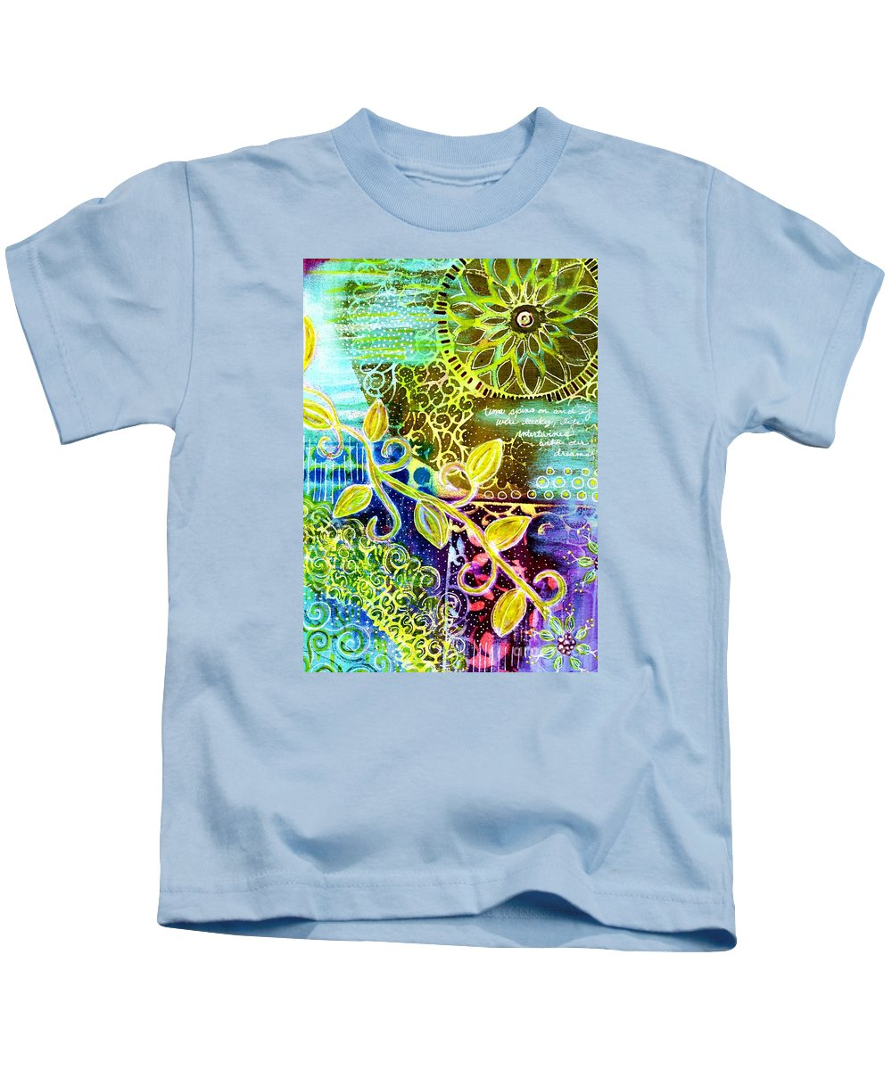 Intertwining Kids T-Shirt featuring the painting Intertwining by Desiree Paquette