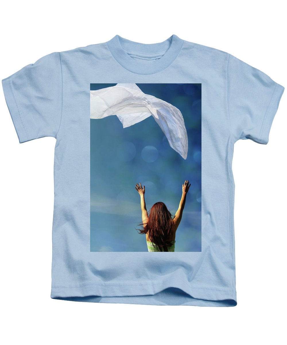 Laura Fasulo Kids T-Shirt featuring the photograph Into The Atmosphere by Laura Fasulo