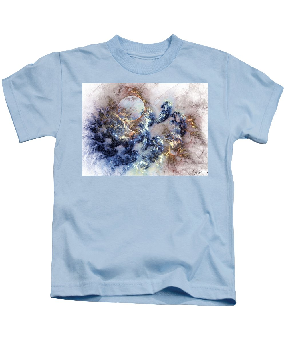 Abstract Kids T-Shirt featuring the digital art Ion Storm by Casey Kotas