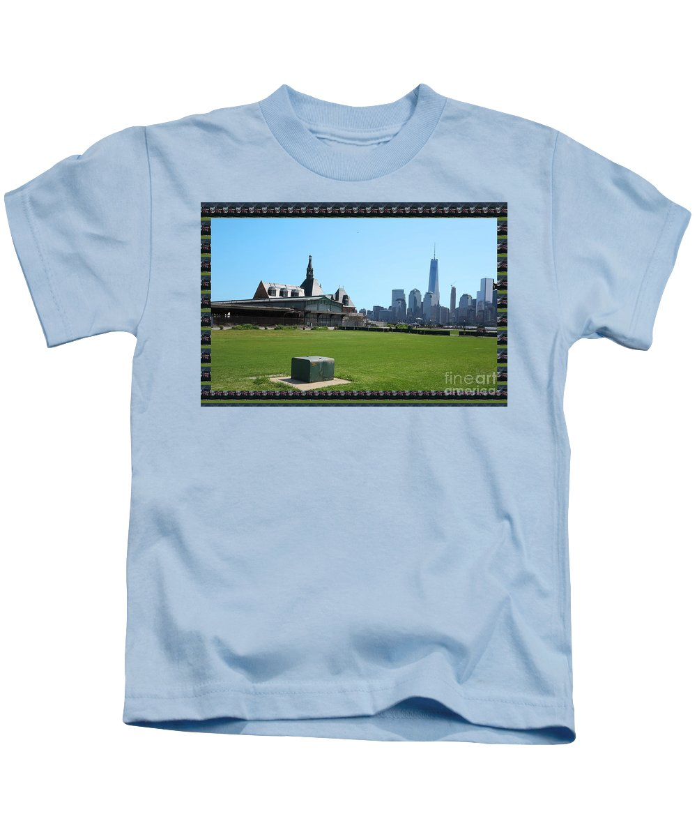 Newyork Kids T-Shirt featuring the photograph Island Park Elise Museaum Of American Immigration Journey Trip To Newyork Travel Zone America Photog by Navin Joshi