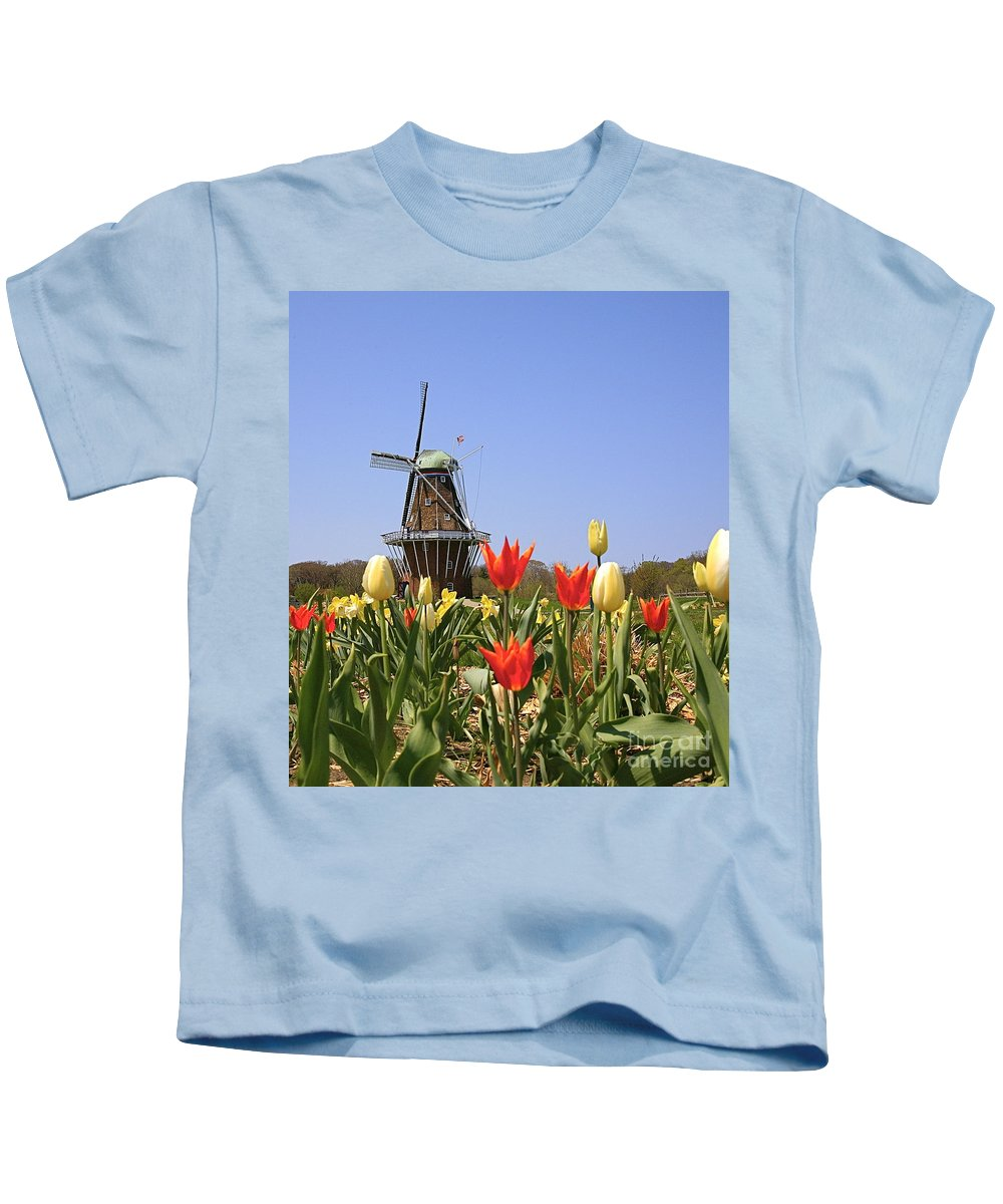 Tulips Kids T-Shirt featuring the photograph Its Tulip Time by Robert Pearson
