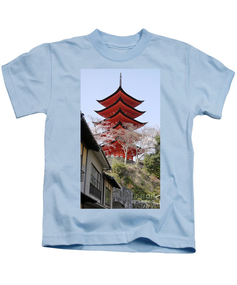 Japan Kids T-Shirt featuring the photograph Japan Itsukushima Temple by Moshe Torgovitsky