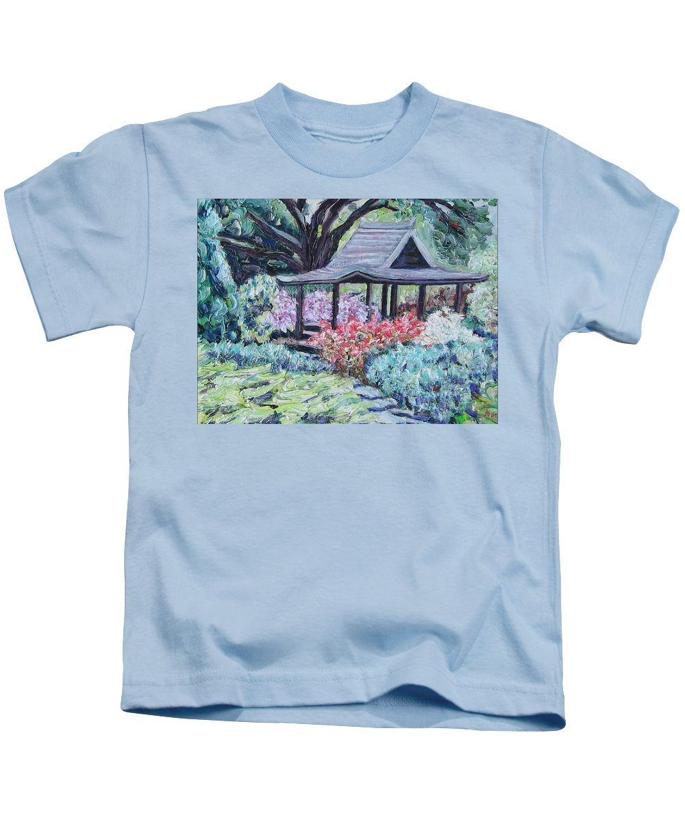 Garden Kids T-Shirt featuring the painting Japanese Garden by Richard Nowak