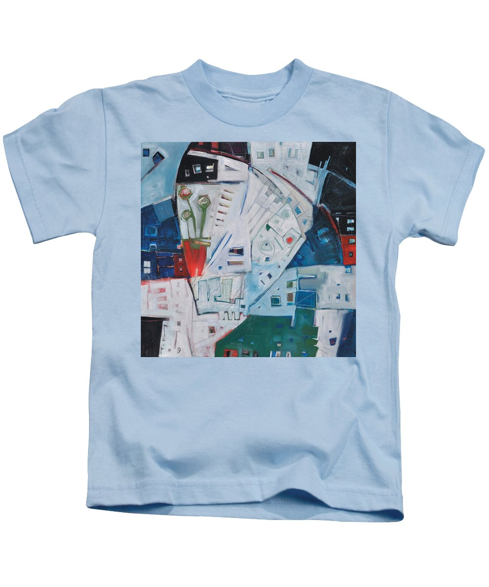 Jazz Kids T-Shirt featuring the painting Jazz In Bloom by Tim Nyberg