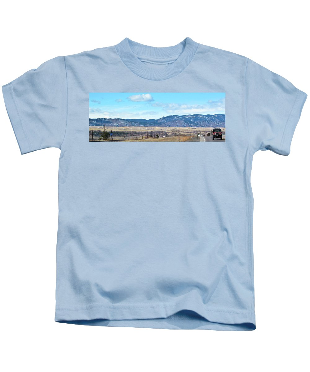 Random Kids T-Shirt featuring the photograph Jeep Territory by Angus Hooper Iii