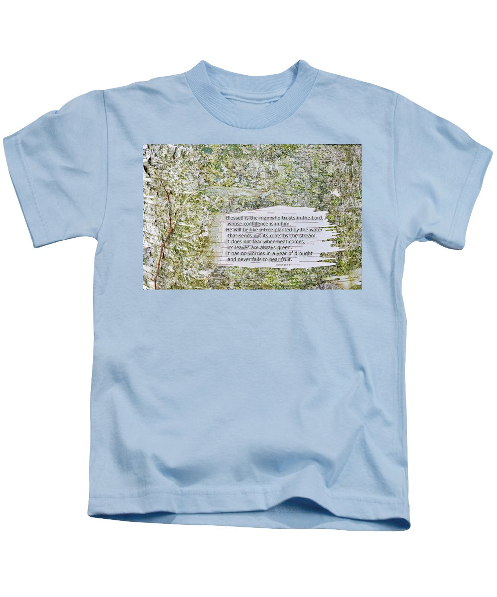 Background Kids T-Shirt featuring the photograph Jeremiah 17 by David Arment