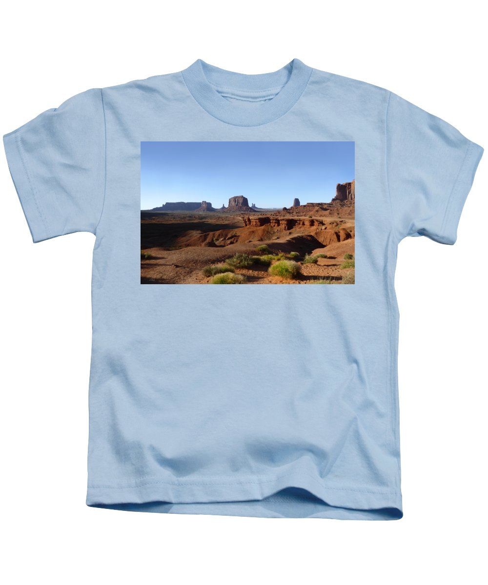 John Ford Point Kids T-Shirt featuring the photograph John Ford Point by Gordon Beck