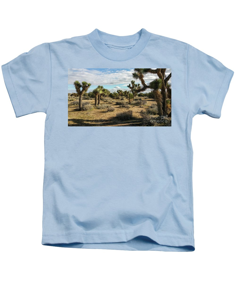Alone Kids T-Shirt featuring the photograph Joshua Tree's by Joe Lach