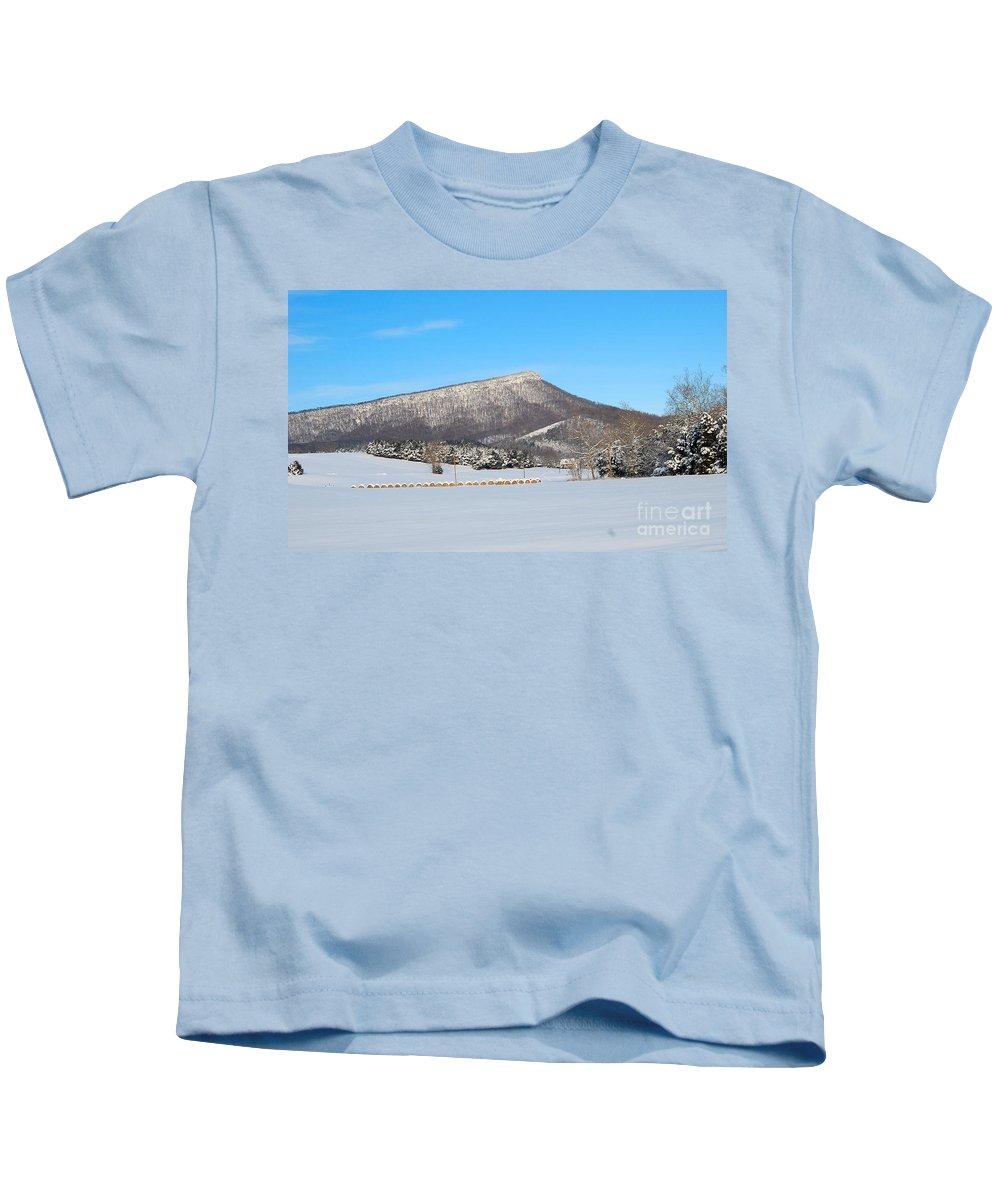 Jump Mountain Kids T-Shirt featuring the photograph Jump Mountain by Todd Hostetter