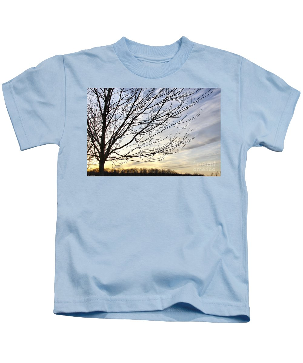 Sky Kids T-Shirt featuring the photograph Just A Tree And Clouds by Deborah Benoit