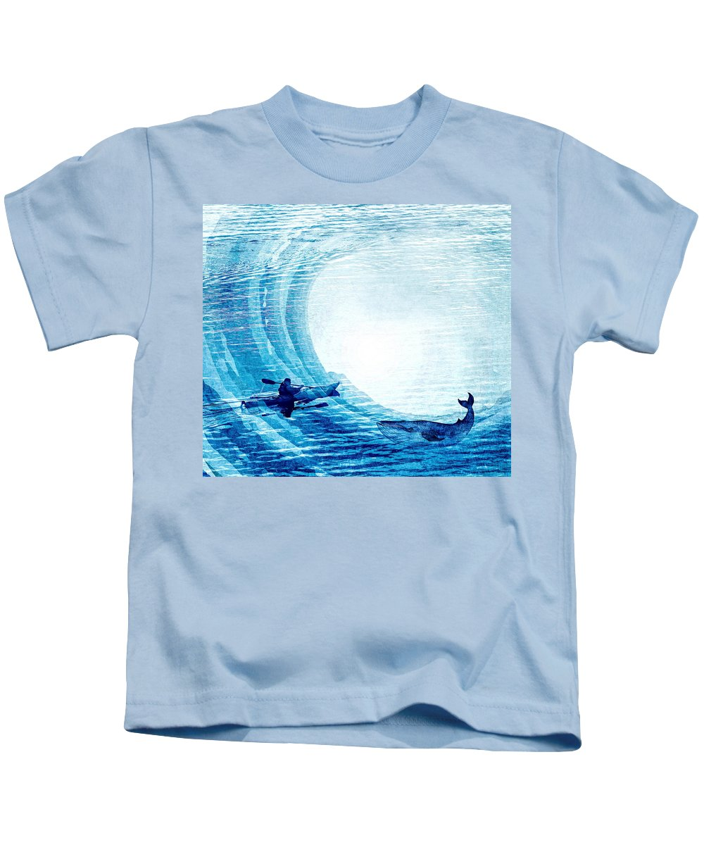 Kids T-Shirt featuring the photograph Kayak Passion by Karla Caspari