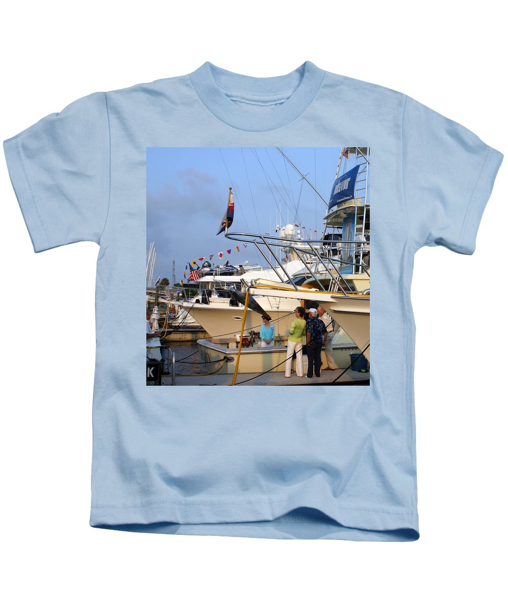 Yacht Portraits Kids T-Shirt featuring the photograph Keels And Wheels Yachta Yachta Yachta Yachta by Jack Pumphrey
