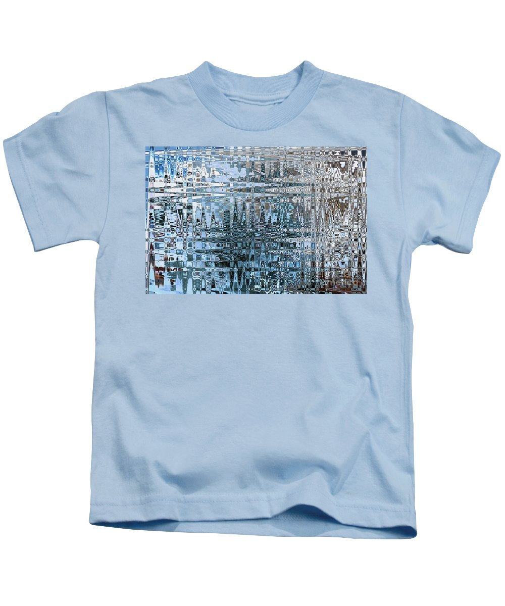 Abstract Kids T-Shirt featuring the photograph Keeping It Cool - Abstract Art by Carol Groenen