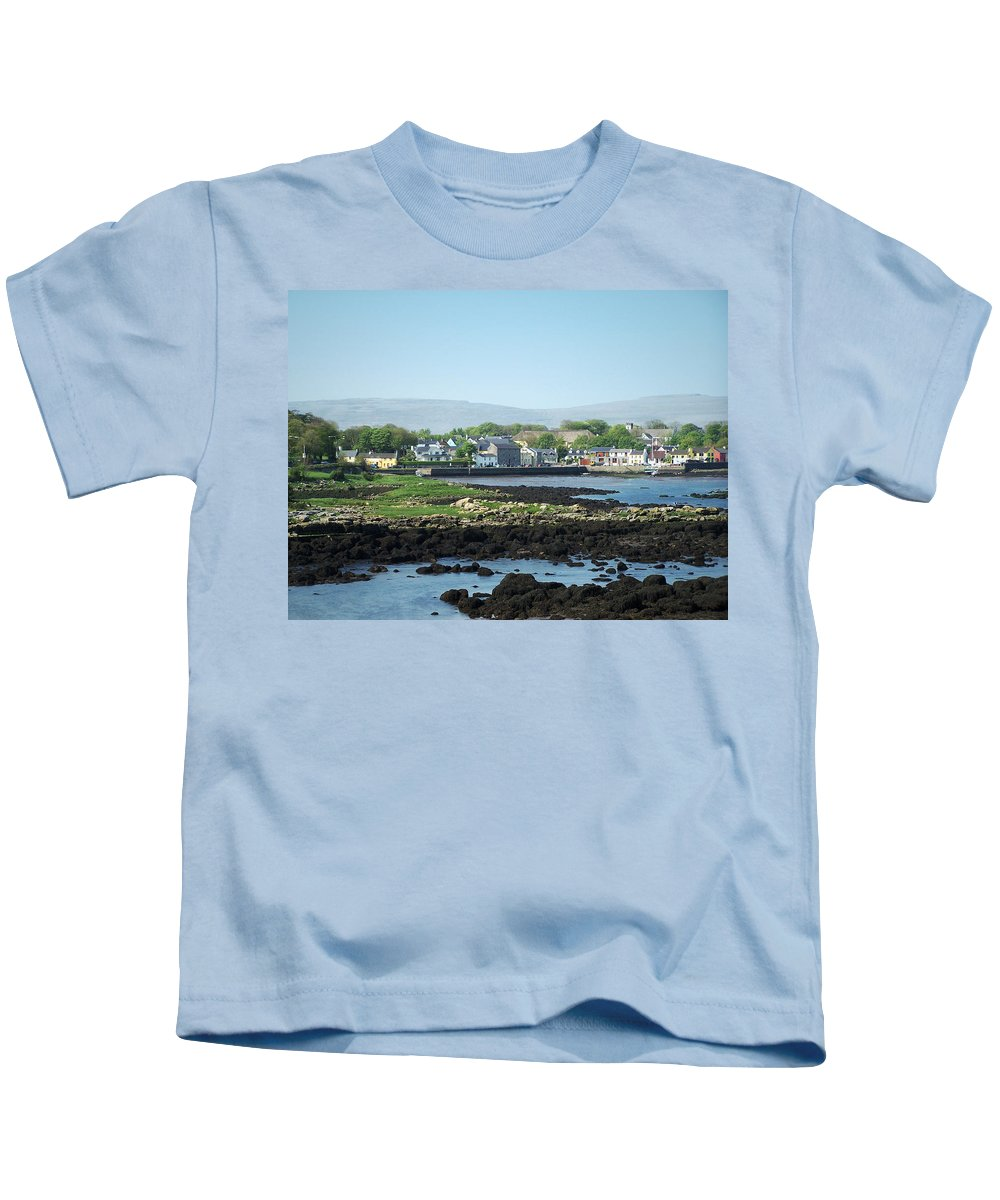 Irish Kids T-Shirt featuring the photograph Kinvara Seaside Village Galway Ireland by Teresa Mucha