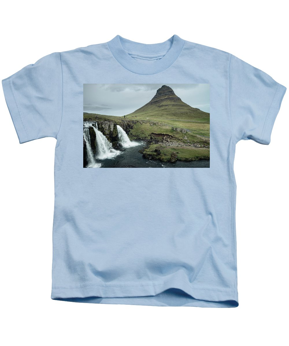 Iceland Kids T-Shirt featuring the photograph Kirkjufell, Iceland by Neil Tapman