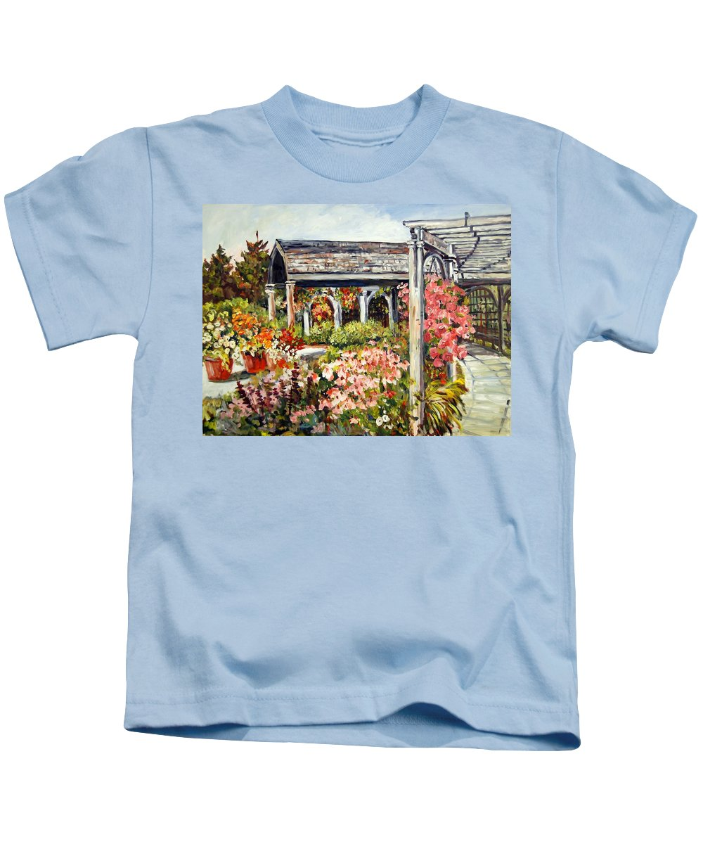 Landscape Kids T-Shirt featuring the painting Klehm Arboretum I by Alexandra Maria Ethlyn Cheshire