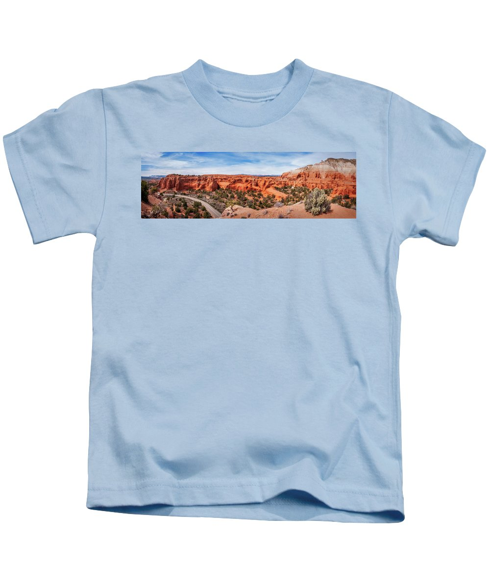 Bryce Kids T-Shirt featuring the photograph Kodachrome Basin State Park Panorama by Daniela Constantinescu