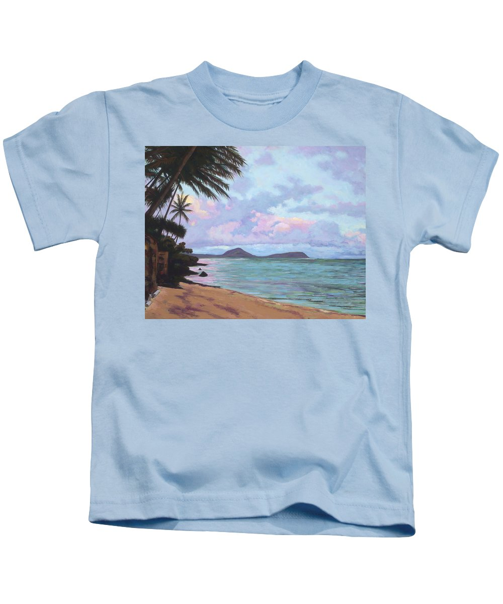 Acrylic Kids T-Shirt featuring the painting Koko Palms by Patti Bruce - Printscapes