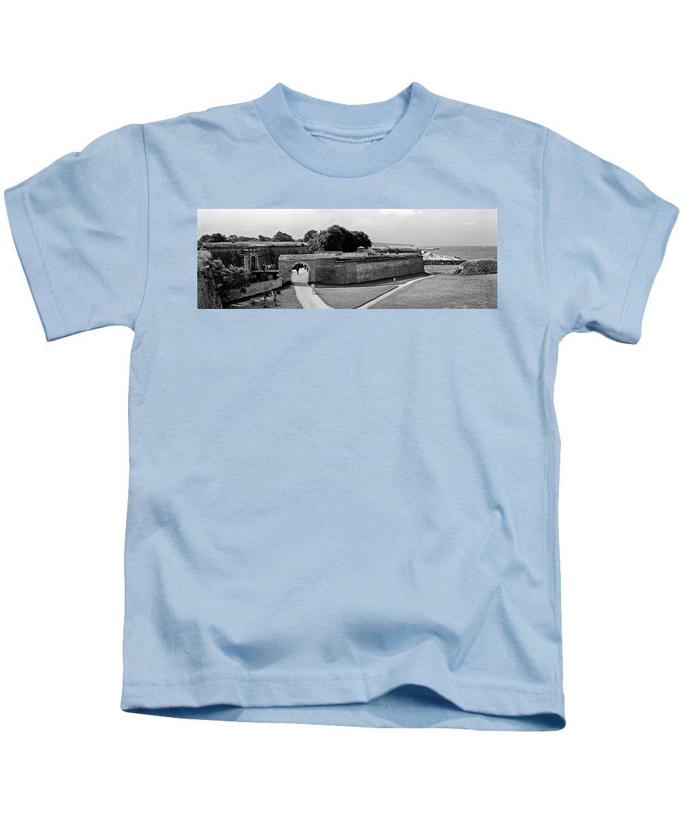 Hamlet's Castle Kids T-Shirt featuring the photograph Kronborg Castle 3 by Lee Santa