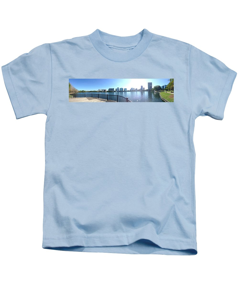 Lake Kids T-Shirt featuring the photograph Lake Eola by Avery French