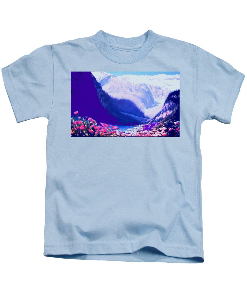 Lake Louise Kids T-Shirt featuring the photograph Lake Louise by Ian MacDonald